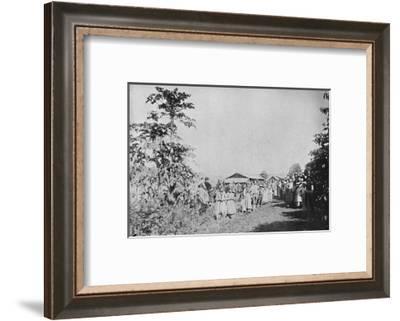 'Festa em uma Colonia', (Party in a colony), 1895-Axel Frick-Framed Photographic Print
