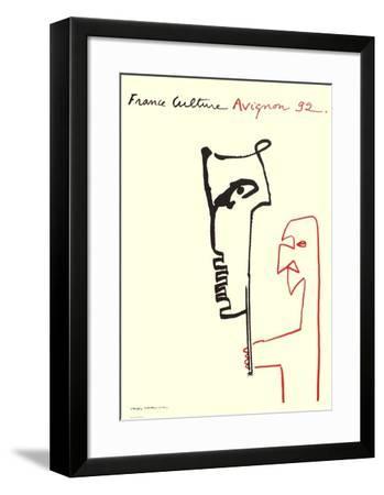 Festival D'Avignon 1992-Valère Novarina-Framed Collectable Print