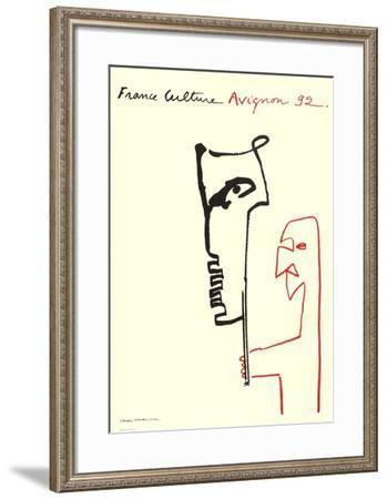 Festival D'Avignon 1992-Val?re Novarina-Framed Collectable Print