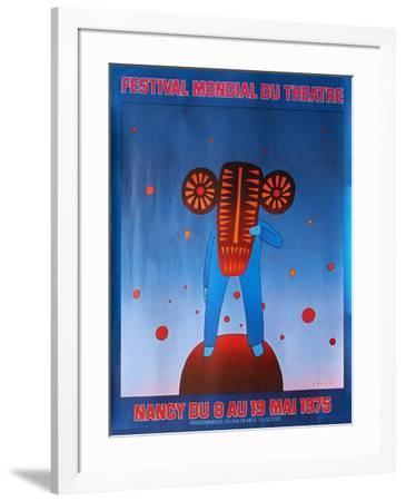 Festival du théâtre Nancy 1975-Jean Michel Folon-Framed Premium Edition