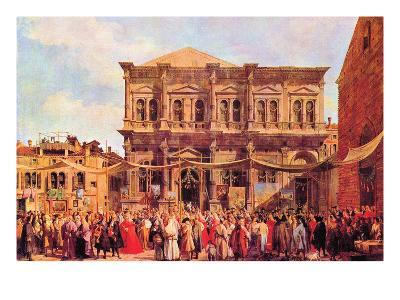 Festival in San Rocco-Canaletto-Art Print