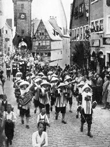 Festival in the Medieval Old Town, Rothenburg Ob Der Tauber, Bavaria, Germany, 1936