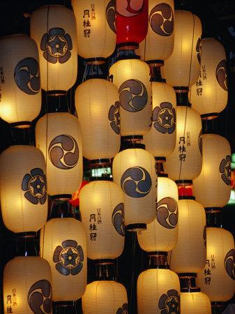 Festival Lanterns for Gion Matsuri, Kyoto, Kinki, Japan,-Frank Carter-Photographic Print