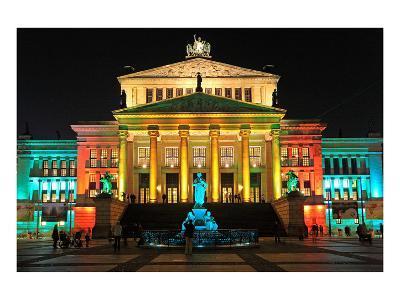Festival of Lights, Berlin Theatre at Gendarmenmarkt, Berlin, Germany--Art Print