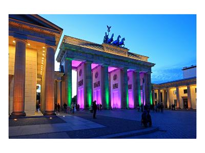 Festival of Lights, Brandenburg Gate at Pariser Platz, Berlin, Germany--Art Print