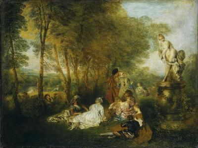Festival of Love-Jean Antoine Watteau-Giclee Print