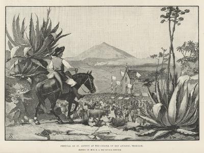 Festival of St Antony at the Chapel of San Antonio, Tenerife-Amedee Forestier-Giclee Print