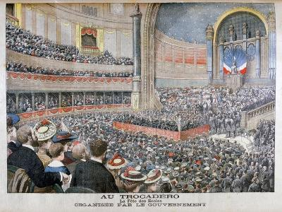 Festival of State Schools Organised by the Government at the Trocadero in Paris, 1904--Giclee Print