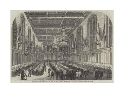Festival of the Corporation of Sons of the Clergy, the Banquet in Merchant Taylors' Hall--Giclee Print