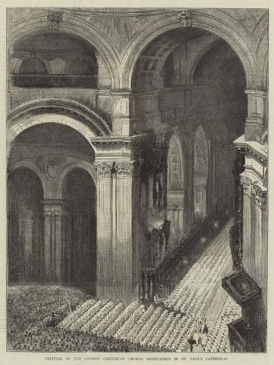 Festival of the London Gregorian Choral Association in St Paul's Cathedral--Giclee Print