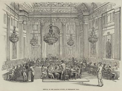 Festival of the Madrigal Society, in Freemasons' Hall--Giclee Print