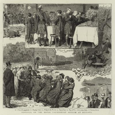 Festival of the Royal Caledonian Asylum at Reigate-Robert Barnes-Giclee Print