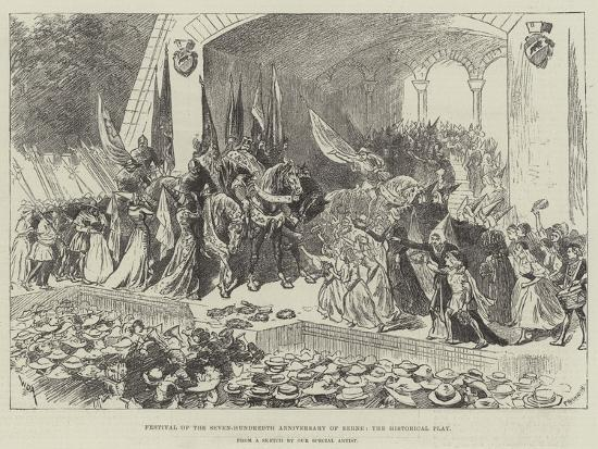 Festival of the Seven-Hundredth Anniversary of Berne, the Historical Play-William Douglas Almond-Giclee Print