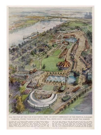 Festival Pleasure Garden--Giclee Print