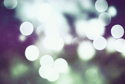 Festive Background with Natural Bokeh and Bright Golden Lights. Vintage Magic Background with Color-Maximusnd-Photographic Print