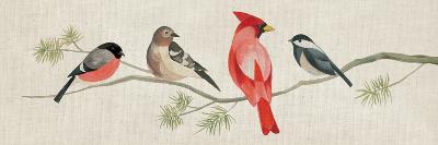 Festive Birds Panel I Linen-Danhui Nai-Art Print