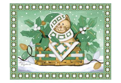 Festive Cat-Laurie Korsgaden-Art Print