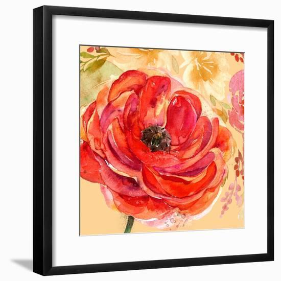 Festive Flowers 1-Jing Jin-Framed Art Print
