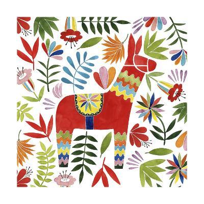 Festive Otomi II-Grace Popp-Art Print