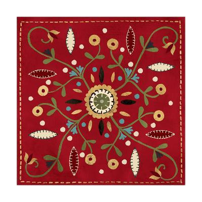 Festive Tiles IV Red WAL - PILLOW-Anne Tavoletti-Art Print