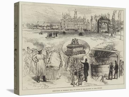Festivities at Thoresby Hall, in Honour of the Majority of Lord Newark-Charles Robinson-Stretched Canvas Print