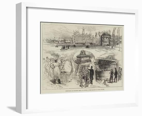 Festivities at Thoresby Hall, in Honour of the Majority of Lord Newark-Charles Robinson-Framed Giclee Print