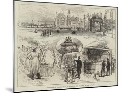 Festivities at Thoresby Hall, in Honour of the Majority of Lord Newark-Charles Robinson-Mounted Giclee Print