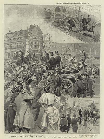 Festivities in Paris in Honour of the Officers of the Russian Fleet--Giclee Print