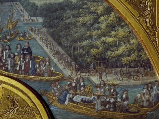 Festivities on Grand Canal of Versailles--Giclee Print