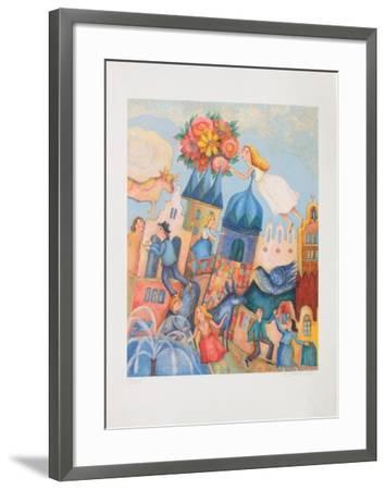 Fete au Village-Francoise Deberdt-Framed Premium Edition