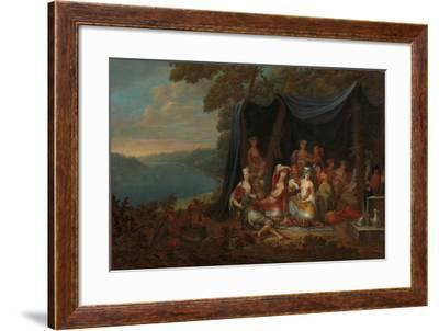 Fête champêtre with Turkish Courtiers under a Tent, c.1720-37-Jean Baptiste Vanmour-Framed Giclee Print
