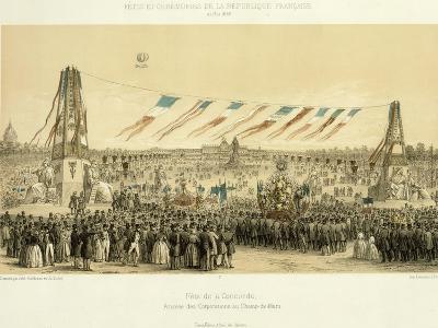 Fête De La Concorde, Arrival of Corporations, Champ-De-Mars, Paris, 1848--Giclee Print