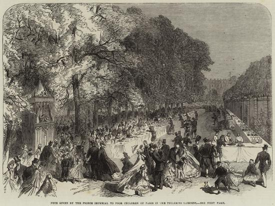 Fete Given by the Prince Imperial to Poor Children of Paris in the Tuileries Gardens--Giclee Print