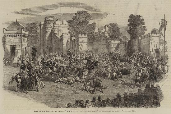 Fete of the Emperor, at Paris, The Field of the Cloth of Gold, in the Champ De Mars--Giclee Print
