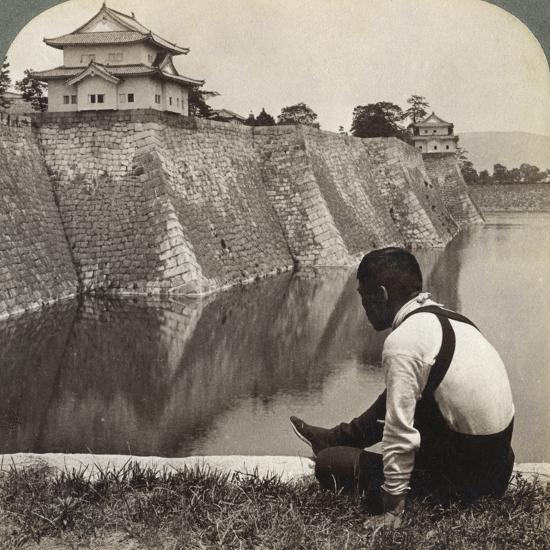 Feudal Castle of the Proud Shoguns, Osaka, Japan, 1904-Underwood & Underwood-Photographic Print
