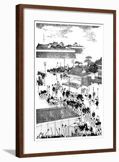 Feudal Chief's Procession Entering the Shogun's Palace, Japan, 1904--Framed Giclee Print