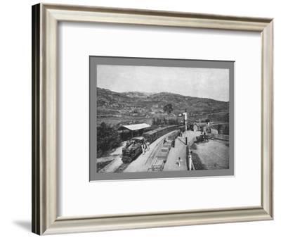 Ffestiniog Railway: Tan-Y-Bwlch Station, c1900-Carl Norman-Framed Photographic Print