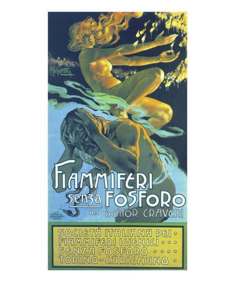Fiammiferi Senza Fosforo-Adolfo Hohenstein-Art Print