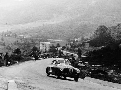 Fiat 1100S Berlinetta Competing in the Mille Miglia, Italy, 1947--Photographic Print