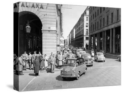 Fiat 600 Multipla Leading a Procession of Fiats, Italy, (Late 1950S)