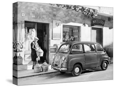 Fiat 600 Multipla Outside a Shop, (C1955-C1965)