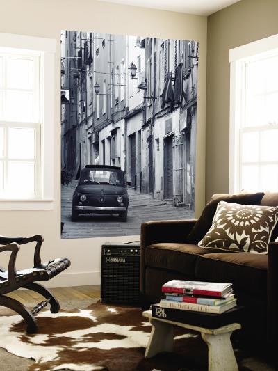 Fiat Driving in Narrow Street, Sassari, Sardinia, Italy-Doug Pearson-Wall Mural