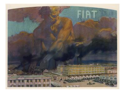 Fiat Factory, Torino--Giclee Print