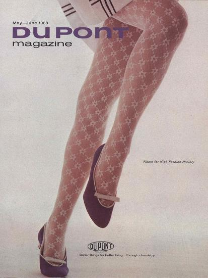 Fibres for High-Fashion Hosiery, Front Cover of 'The Du Pont Magazine', May-June 1968--Giclee Print