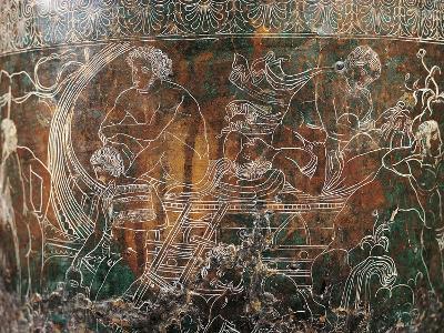 Ficoroni Cista, Detail of Argos's Ship--Giclee Print