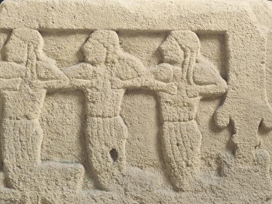Fictile Tablet Depicting Mourners and Funeral Procession--Giclee Print