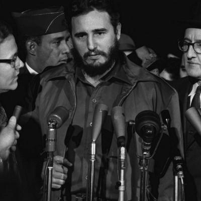 Fidel Castro Arrives Mats Terminal, Washington D.C.-Warren K^ Leffler-Photo