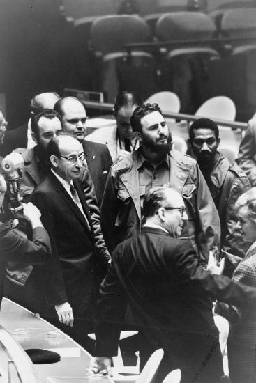 Fidel Castro at a meeting of the United Nations General Assembly, 1960-Warren K^ Leffler-Photographic Print