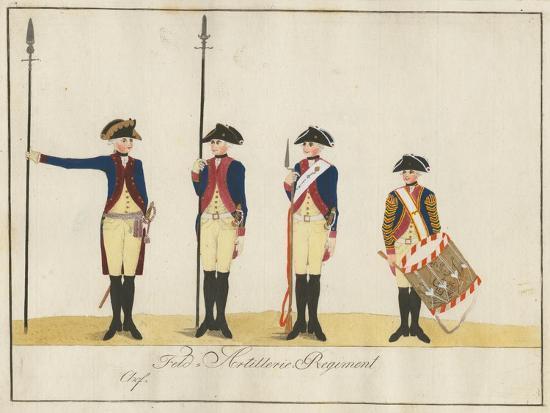 Field Artillery Regiment, C.1784-J. H. Carl-Giclee Print