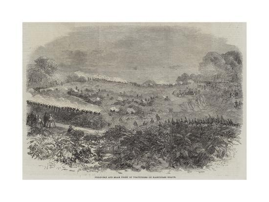 Field-Day and Sham Fight of Volunteers on Hampstead Heath--Giclee Print